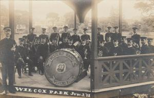 RP, WESTERLY , Rhode Island , 1911 Brass Band at Wilcox Park