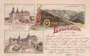 Gruss Aus LAUENSTEIN (Saxony), Germany, PU-1898; Schlossthor, Schloss Lauenstein
