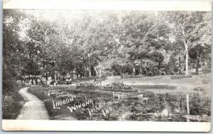 Winona Lake, Indiana P.M.C. Postcard LAGOON Boating Scene c1900s Unused