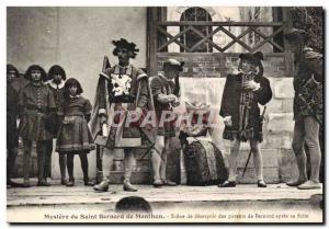 Old Postcard Mystery of Saint Bernard of Menthon Scene despair Bernard's pare...