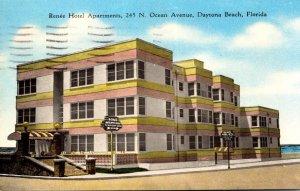 Florida Daytona Beach Renee Hotel Apartments 1954