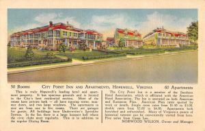 Hopewell Virginia City Point Inn Apartments Antique Postcard K96257