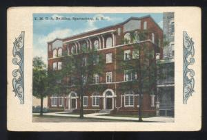 SPARTANBURG SOUTH CAROLINA YMCA BUILDING ANTIQUE VINTAGE POSTCARD S.C.