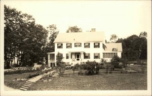 Newfound Lake NH Tobey's Restaurant Real Photo Postcard