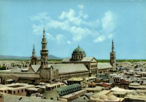 syria, DAMASCUS DAMAS, General View with Ummayyad Mosque, Islam (1970s)