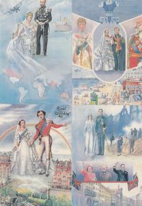 Victorian Royal Wedding 1840 King Prince Albert Denmark 4x Postcard s