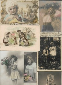Cute Kids Victorian Style Fantasy Vintage Postcard Lot of 20   01.17