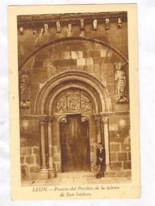 LEON, Puerta del Perdon de la iglesia de San Isidoro, Spain, 10-20s