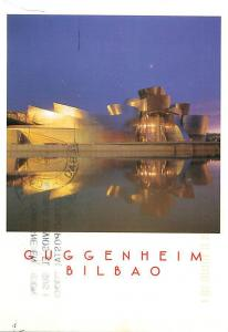 Guggenheim Bilbao Spain Mirror Reflection   Postcard  # 7640