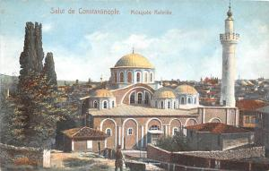 Turkey Old Vintage Antique Post Card Salut De Constantinople Mosquee Kahriee ...