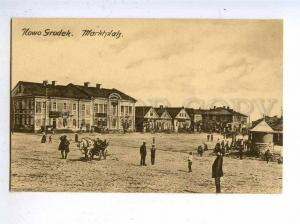 197249 WWI BELARUS Nowogrodek market Vintage postcard