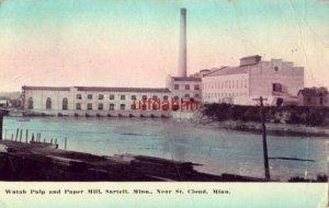 WATAB PULP and PAPER MILL SARTELL, MN near ST. CLOUD, MN 1914