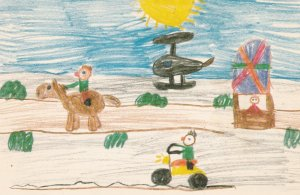 CAMBRIDGE BAY , NWT, Canada, Expo-1986 ; Child Art #3