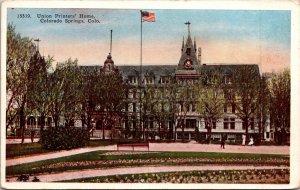 Colorado Springs CO Union Printers' Home Postcard unused 1915-30s