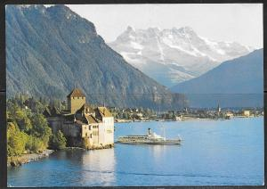 Switzerland, Vaud, Chillon Castle, mailed in 1983 to USA