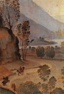 Italia Firenze Galleria dell'Accademia Raffaellino del Garbo Resurrection detail