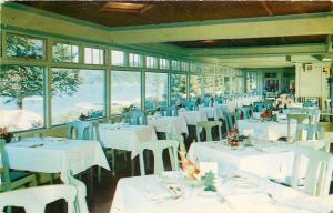 P O Inlet New York~Holls Inn~Bright, Sunny Dining Room~1950s Postcard