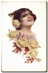 Old Postcard Fantasy Illustrator Woman Mir