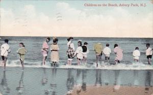 New Jersey Asbury Park Children On The Beach 1909