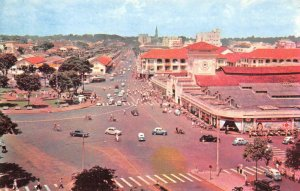 SAIGON Market, Street Scene VIETNAM chợ mới saigon c1950s Vintage Postcard