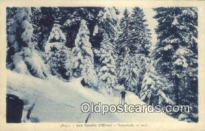 Les Sports D Hiver Ski, Skiing writing on back