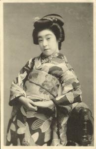 japan, Beautiful GEISHA Lady, Kimono (1910s)