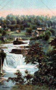 New York Adirondacks Ausable Chasm Rainbow Falls