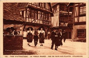 CPA La Vieille France Rue du Bain Ax Plantes FRANCE FOLKLORE (789353)