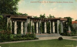 CT - Bristol. W.E. Session's Gardens, Japanese Pergola