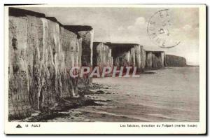 Old Postcard The Ault Treport Branch High Cliffs Maree