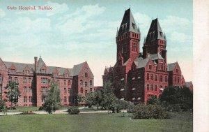 State Hospital, Buffalo, New York, Early Postcard, Unused