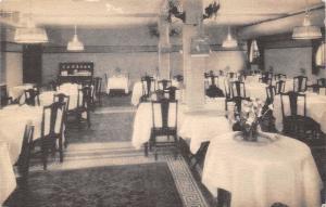 Hartford Connecticut~Bond Annex Hotel Dining Room Interior~1936 Sepia Litho PC