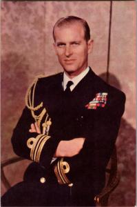 Prince Philip Duke of Edinburgh Portrait Photo by Baron Vintage Postcard R04