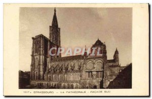 Postcard Old ThE STRASBOURG CATHEDRAL FRONT SOUTH