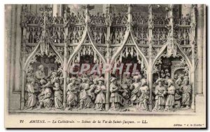 Old Postcard Amiens Cathedral Scenes From The Life Of Saint Jacques