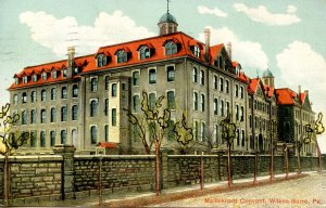 PA - Wilkes-Barre. Mallinkrodt Convent   (doodling on face of card)