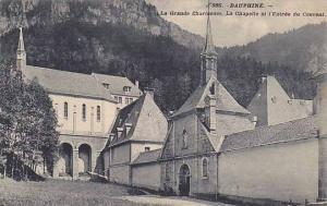 La Grande Chartreuse, La Chapelle Et l'Entree Du Couvent, Dauphine, France, 1...