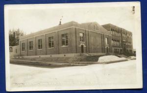 Glenns Ferry Idaho id High School Gymnasium real photo postcard RPPC