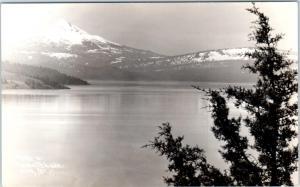 RPPC  KLAMATH LAKE & Mt. Pitt, Oregon  OR   c1940s  Patterson Photo Postcard