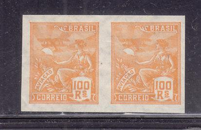 Brazil  #332 MH Imperforate Pair