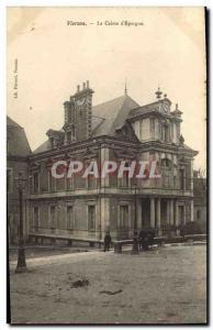 Old Postcard Bank Caisse d & # 39Epargne Vierzon