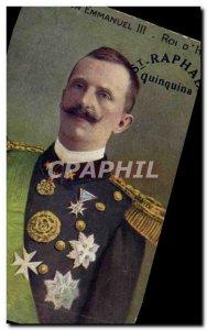 Old Postcard SM Victor Emanuel III King of & # 39Italie