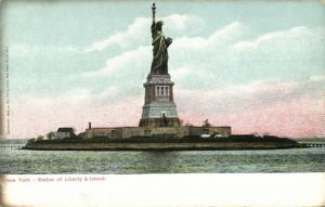 NEW YORK, N.Y., Statue of Liberty and Island (1910s)