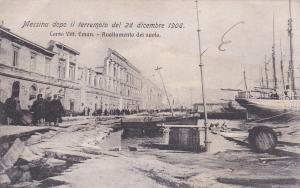 La catastrofe di MESSINA (Palermo) , Sicilia , Italy , 1908s ; Corso Vittorio Em