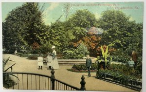 Old Divided Back Era Postcard Zoological Gardens Fairmount Park, Philadelphia PA