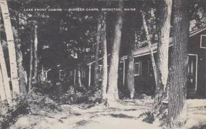 Maine Bridgton Lake Front Cabins Pioneer Camps Artvue