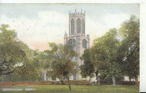 Northamptonshire Postcard - Fotheringhay Church - Ref 19519A