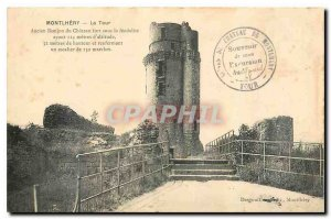 Old Postcard Montlhery Tower Dungeon Old Fort Chateau