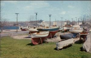 RI Shipyard Published in Watch Hill c1950s-60s Postcard