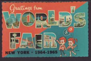 Greetings From World's Fair NY 1964-1965 Postcard